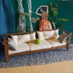 Скамья-диван в стиле рустик