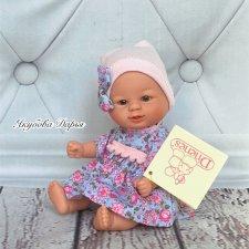 Кукла-Пупс Бебетин в голубом платье в цветочек