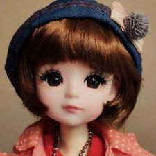 Шарниная куколка, 30 см. Каре,паричок.