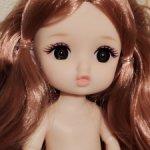 Шарнирная куколка ,губки бантиком. Новый молд!