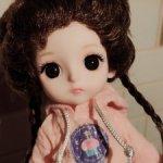 Шарнирная куколка с оригинальной прической.Новинка!