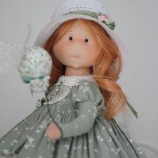 Мая - интерьерная текстильная кукла