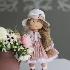Прелестница интерьерная текстильная кукла
