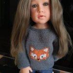 Свитер с лисой на кукол Готц