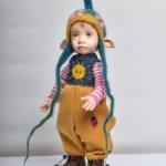 Кукла авторская,в смешанной технике