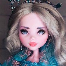 ООАК Monster high Монстер Хай Дракулаура Снежная принцесса