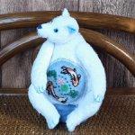 Медведь Айсберг с вышивкой