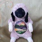 Валлийская овечка с вышивкой