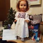 Набор одежды из хлопка с вышивкой для старинных кукол