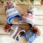 Зимние шапочки для кукол