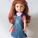 Сарафан джинсовый и футболка для кукол типа Паола Рейна