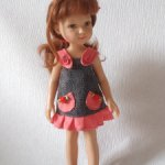 Джинсовый сарафан для кукол типа Паола Рейна