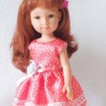 Платье  атласное для кукол типа Паола Рейна