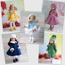 МК «Двубортное пальто: 5 моделей» для кукол Paola Reina
