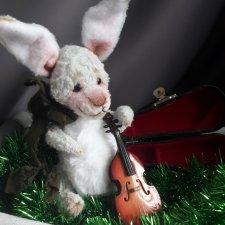 Коллекционный авторский кролик тедди.