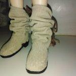 Сапожки кожаные на минифи