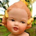 """Характерная цельнофарфоровая куколка """"ELSBETH""""  Gebruder Heubach"""