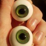 Стеклянные глаза для кукол ( папервейт)