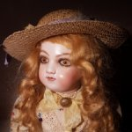 Винтажная реплика французской куклы 1966 года