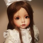 Фарфоровая кукла с авторской росписью