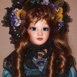 Фарфоровая кукла из винтажных частей