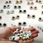 Глаза стеклянные 14 мм