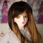 Парик ПРЕМИУМ кофе с корицей на шарнирную куклу 60-63 см