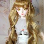 ПАРИК мягкий волос кудрявый для куклы 60-63 см