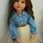 Стильное платьице для куколок Готц 50 см