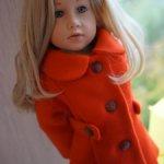 Яркое, осеннее пальто для куколок Готц 50 см