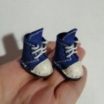 Ботинки из замши и кожи для Блайз.Размер 2,6 х 1,2 см.