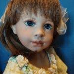 Фарфоровая оригинальная  кукла Клара от Heidi Pluszok