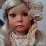 Коллекционная фарфоровая кукла Иветт от Ute Kase- Lepp. Скидка  9600!!Рассрочка !!!