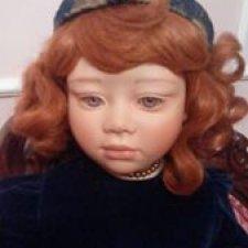 Коллекционная фарфоровая кукла Невэ от Christine Orange