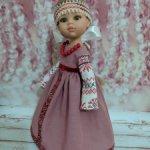 Русский народный наряд с повязкой из жемчуга 7 видов