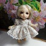 Лесное хлопковое платье на малышек 15-18см (PukiFee, Lati, Luts и другие соразмерные)