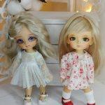 Платья с длинным рукавом для кукол 15-17см (PukiFee, Lati, Luts и другие соразмерные)