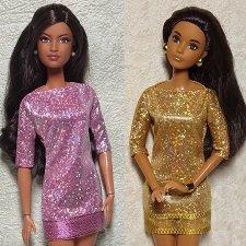 Одежда для Барби Платье голограмма