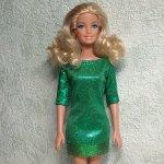Одежда для Барби Платье зелёное