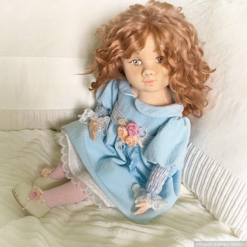 Коллекционная интерьерная кукла Злата от Марины Мышеловой
