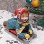 Ватная игрушка на елку
