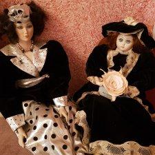 Две bambole bellissime, фарфоровые девочки, совместного производства Show Stoppers (USA) и  Belombre (Italy)