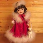 Коллекционная фарфоровая кукла от Jerry McCloud Рождественский вариант