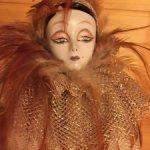 Фарфоровая кукла Арлекин