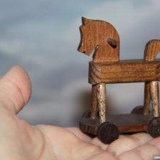 Лошадка на колесиках!