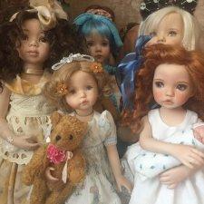 Куклы на все времена, очаровательные девочки по молду Дианы Эффнер (роспись Эйприл Нортон)