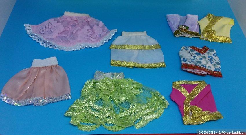 Топ и юбка на барби