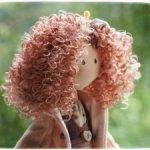 Волосы для кукол в жгутах .