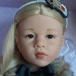 Ноэль (Noelle) Gotz с карими стеклянными глазами Kemper dolls и новыми ресничками #2