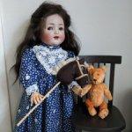 Лошадка-скакалка для антикварной куклы